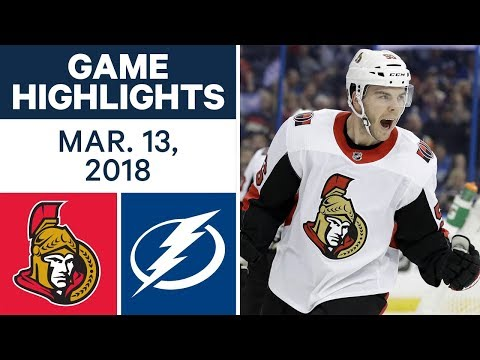 NHL Game Highlights | Senators vs. Lightning - Mar. 13, 2018