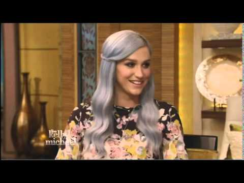 """Kesha on """"Live With Kelly and Michael"""" 7/25/14"""