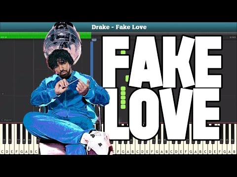 Fake Love  Piano Tutorial (DRAKE) - Piano Sheet...