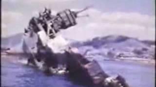 終戦直後に撮影された戦艦「榛名」、航空母艦「天城」、重巡洋艦「青葉...
