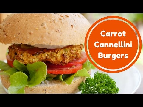 Carrot & Cannellini Burgers: Best Ever! (Vegan, Oil free, Wholefood Plant based)