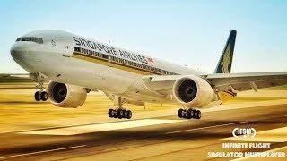 Infinite Flight Singapore Airlines B777 - 300ER - EHAM - EDDL