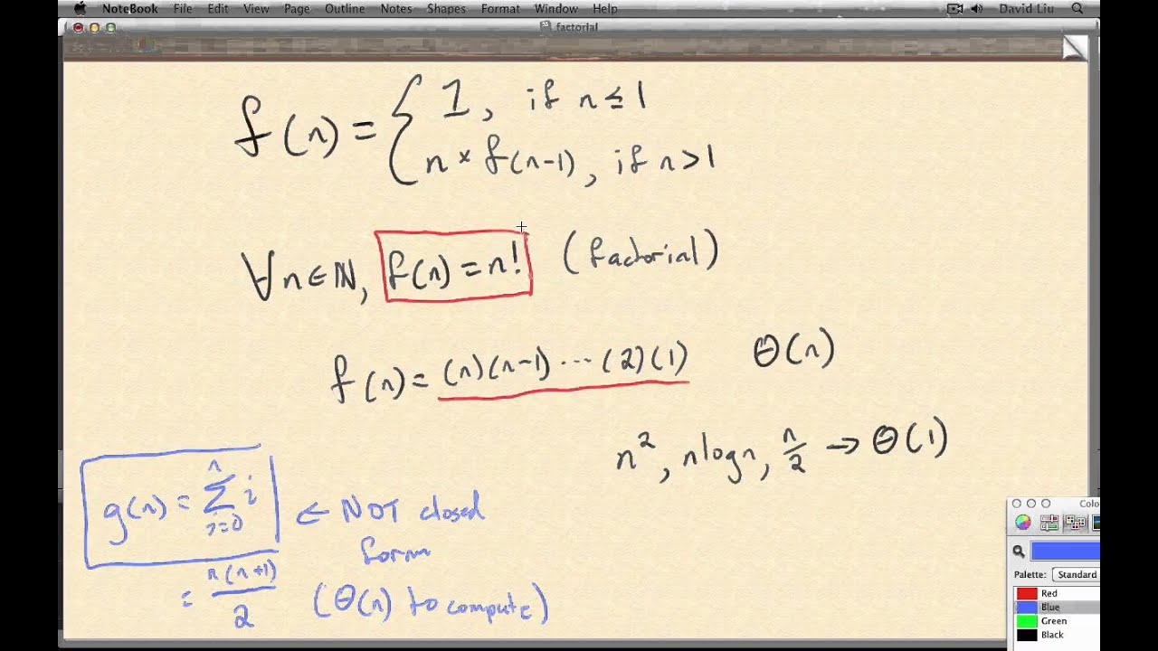 Factorial Function's Closed Form? - YouTube