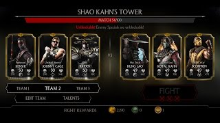 Mortal Kombat X Android Shao Kahn's Tower Fight 45 - 53
