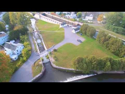 Drone Above Lock E2 Waterford NY