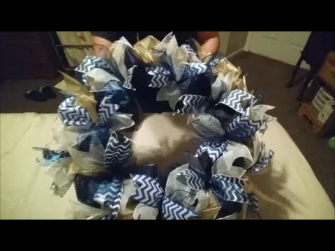 DIY NFL Wreath