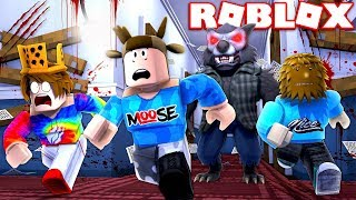 YOUTUBERS ESCAPE THE BEAST IN ROBLOX! (FT. PrestonRoblox & JeromeASF)