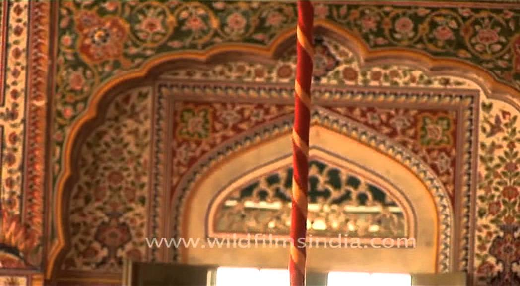 Mosaic Wall Paintings And Priceless Chandelier Adorn Samode Palace Jaipur