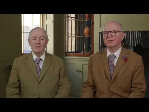 "Gilbert & George sing ""Underneath the Arches"""