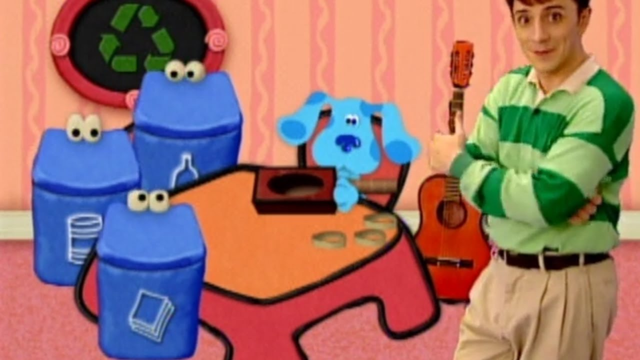 Blue's Clues - What Does Blue Want to Make Out of Recycled ...