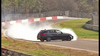 NÜRBURGRING BIG BMW 140i Drift, Almost Crashes, Highlights 31 03 2019 Touristenfahrten Nordschleife