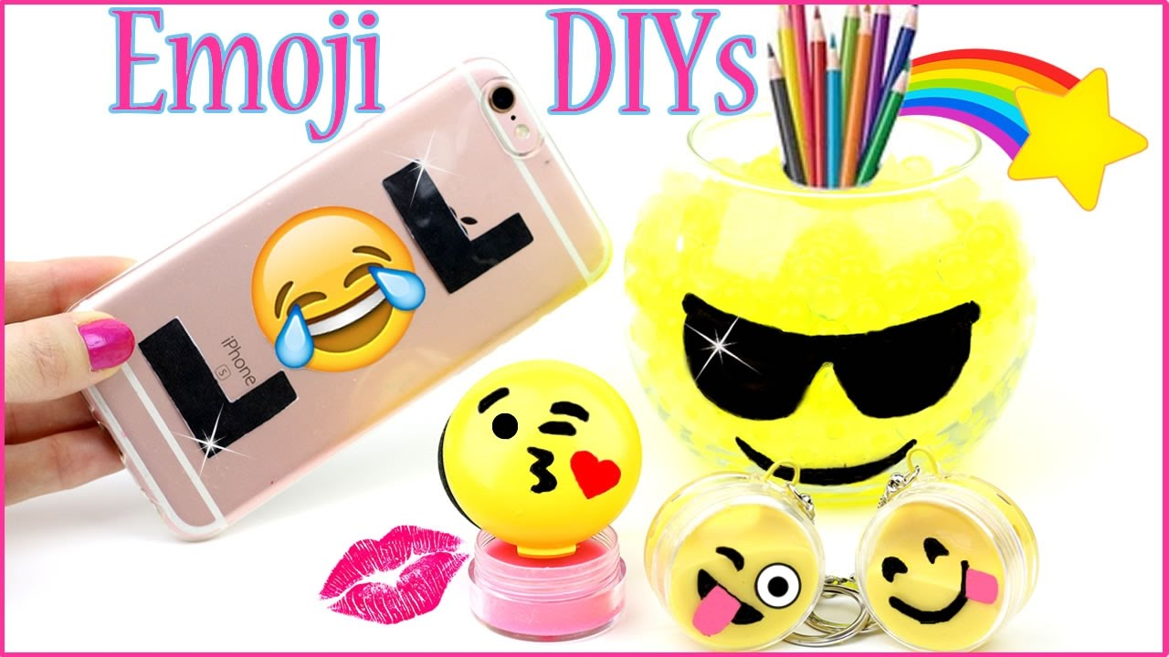 5 Diy Emoji Projects You Need To Try Phone Case Lip Balm