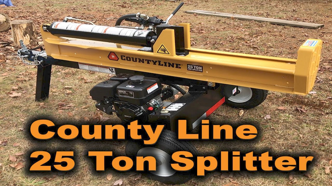 We Finally Got One!!! County Line Log Splitter 25 Ton