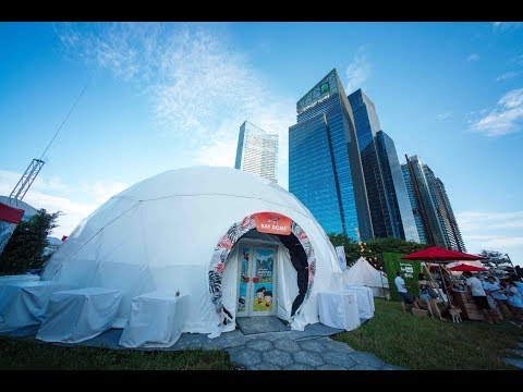 DBS Marina Regatta 2017 -  Projection Dome, Smart Recycling Station and Self Redemption Machines