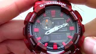 Годинник Casio G-SHOCK GAX-100MB-4A - Інструкція, як налаштувати від PresidentWatches.Ru
