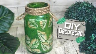 Aprenda a Fazer Pote de vidro decorado