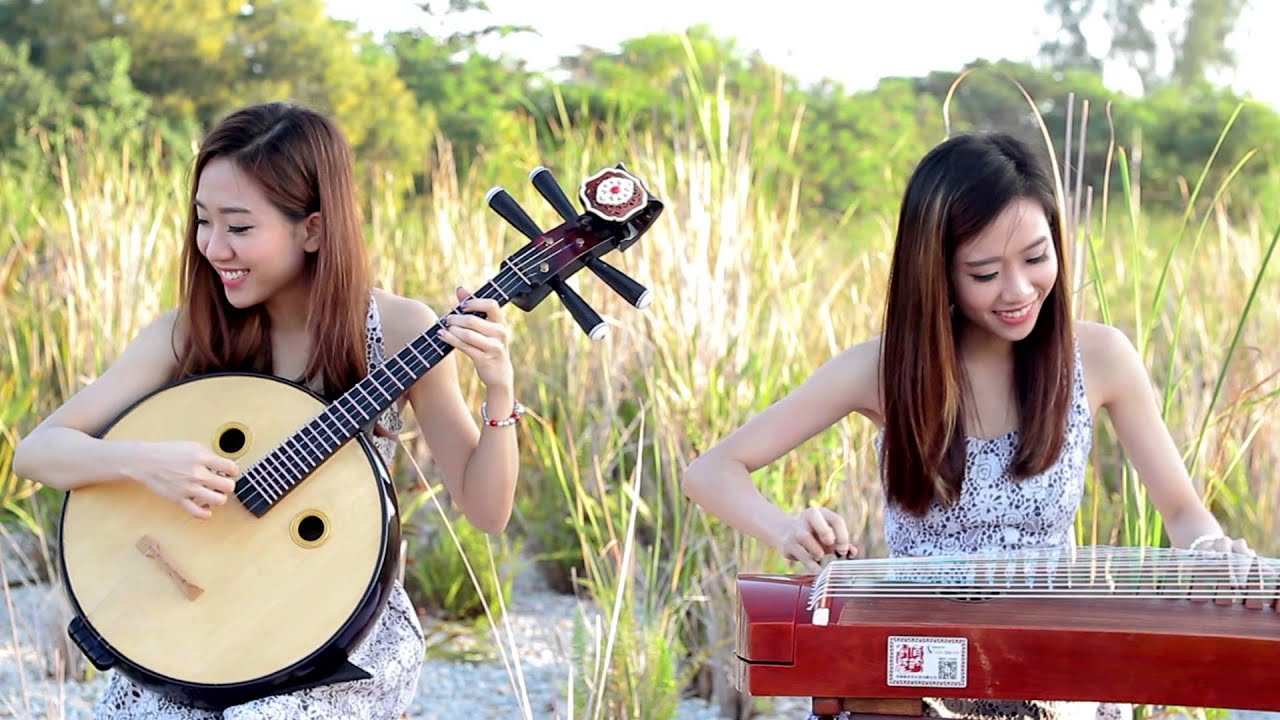 MUSA - Chandelier(Sia) & Wrecking Ball Mash - Guzheng and Zhongruan with Backing track 古筝,中阮