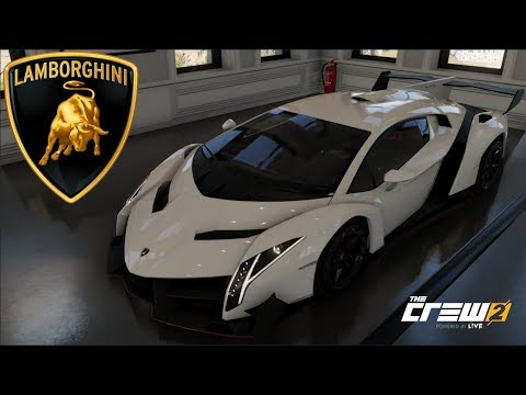 The Crew 2 Lamborghini Veneno Customization Top Speed Run