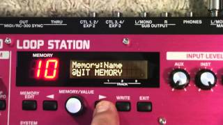 RC 300 Loop Station Tutorial - Changing Memory Names