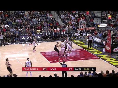 2nd Quarter, One Box Video: Atlanta Hawks vs. Portland Trail Blazers