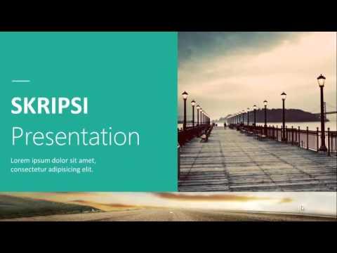 Skripsi Presentation Powerpoint Template Youtube