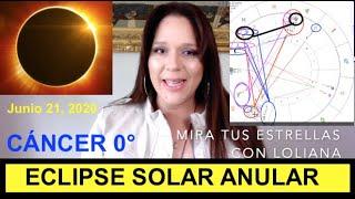 ECLIPSE SOLAR ANULAR en CÁNCER Junio 21, 2020 y Cómo Afectará a Cada Signo