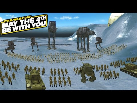 ST-1 vs AT-ST Walkers, Russians Defend Hoth!  (Star Wars Galaxy at War Mod)
