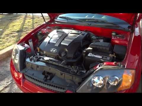 2003 Hyundai Tiburon GT V6 Stock Air Filter Rev (before)