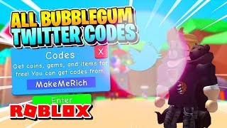ROBLOX BUBBLE GUM SIMULATOR CODES: ALL CODES GIVEAWAY! [Hack!]