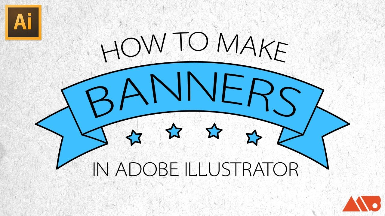 adobe illustrator tutorial how to make banners ribbons youtube