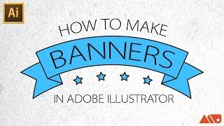 Adobe Illustrator Tutorial: How to Make Banners / Ribbons