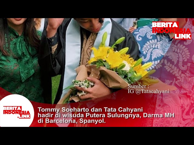 Tommy Soeharto dan Tata Cahyani hadir diwisuda putera sulungnya Darma MH di Barcelona, Spanyol