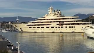Dilbar yacht docking - FULL MANEUVER