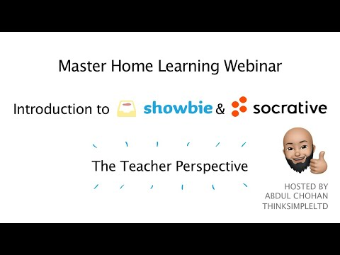 Introduction to Showbie & Socrative – The Teacher Perspective