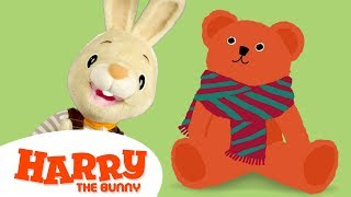 Baby Learning First Words with Harry the Bunny | Educational Family Fun Videos for Toddlers & Babies