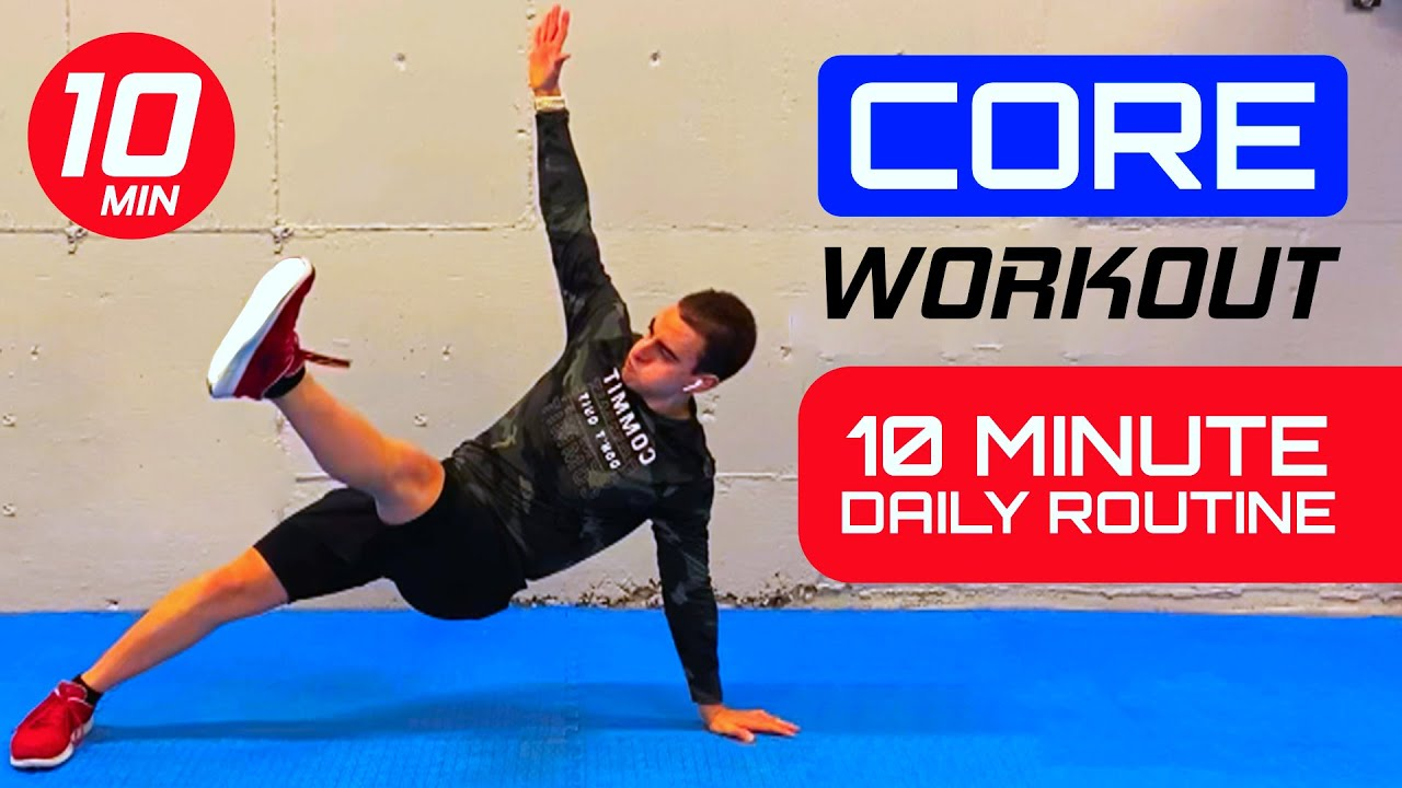 10 MINUTE SIX PACK WORKOUT! Gain Core Strength and Stability