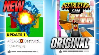 C'est le simulateur de destruction ORIGINAL... (Roblox)
