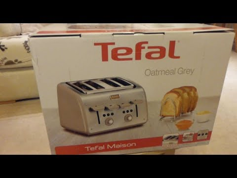 "Tefal ""Maison"" TT770AUK, 4 slice toaster - Unboxing and first use."
