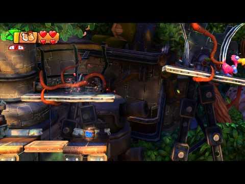 Donkey Kong Country: Tropical Freeze - 1-4 Trunk Twister: Cranky Kong Action, Secret Banana Room
