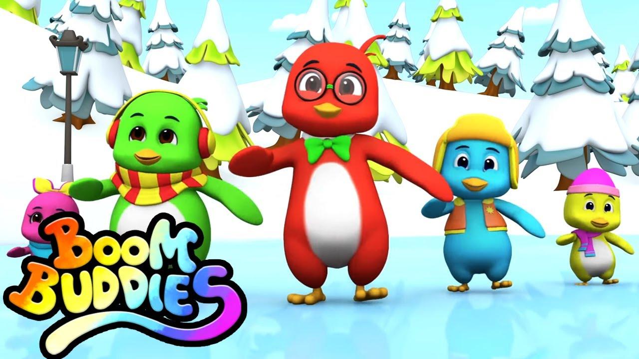 Danza del pingüino | Dibujos animados | Educación | Boom Buddies Español | Rimas para niños