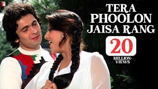 Tera Phoolon Jaisa Rang Song HD तेरा फूलों जैसा रंग Kabhi Kabhie Rishi Neetu Kishore Lata