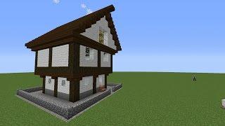 Дом в Minecraft за 2 секунды Без модов.