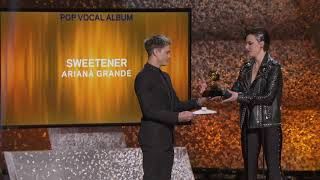 Ariana Grande Wins Best Pop Vocal Album | 2019 GRAMMYs Acceptance Speech