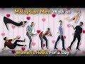 Malaysian Men Walk in Women's Heels For a Day