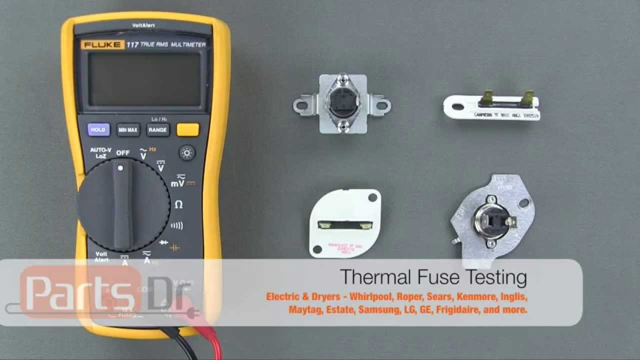 How To Test A Dryer Thermal Fuse For Continuity Youtube