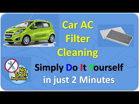 DIY -Clean your car AC filter in 2 mins, Chevrolet