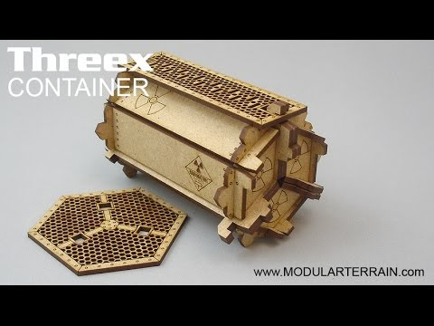 Contenedor Threex container. 28mm miniature wargames.