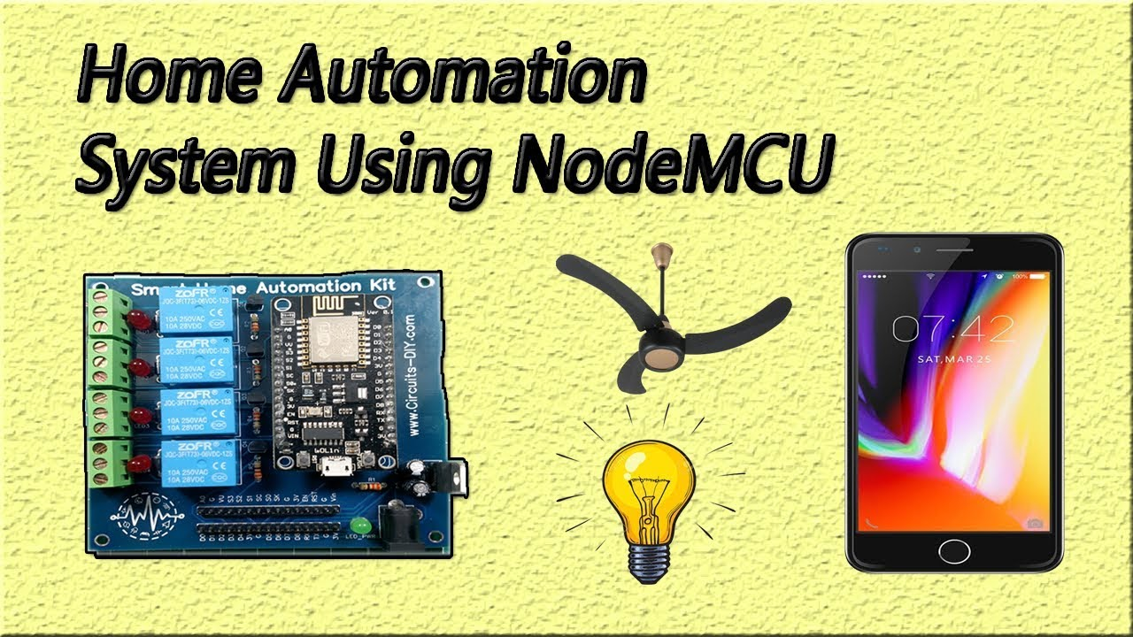 How to make Home Automation System Using Nodemcu ESP8266 | Google Assistant  | IoT Projects