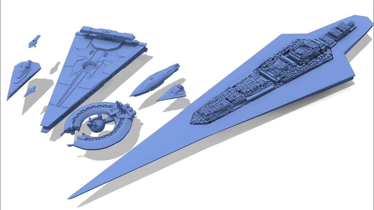 Capital Ship Size Comparison - Star Wars Canon (2018)