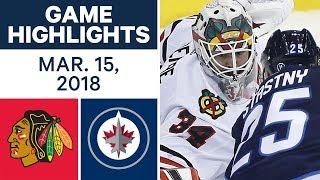 NHL Game Highlights | Blackhawks vs. Jets - Mar. 15, 2018